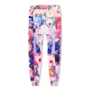 Ahegao Manga 3D Figure Printed Drawstring Waist Casual Pants Sweatpants