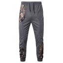Stylish Camo Tree Printed Drawstring Waist Mens Casual Sport Pants Sweatpants