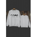 The Big Bang Theory Figure Printed Round Neck Long Sleeve Cotton Pullover Sweatshirt
