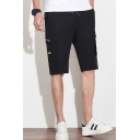 Summer New Trendy Quick-Dry Fashion Flap Pocket Side Athletic Cargo Shorts for Men