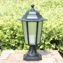 Water-Resistant Hexagon LED Post Lighting for Pathway Balcony Pack of 1/2 Post Lamp in Black/Bronze