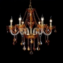 Brass Candle Chandelier 6/8 Lights with 12