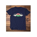Friends Coffee Letter CENTRAL PERK Printed Short Sleeve Unisex Cotton T-Shirt