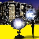 Remote Control Landscape Lights Pack of 1 Waterproof LED Projection Lights for Party Lights