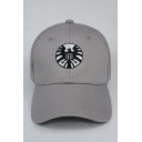 Agents of S H I E L D New Stylish Logo Letter CAPTAIN MARWEL Print Embroidered Grey Adjustable Baseball Cap
