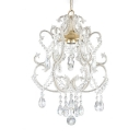 1 Light Clear Crystal Adjustable Hanging Chandelier with 19.5
