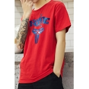 New Fashion Popular Letter Logo Printed Short Sleeve Cotton Graphic Tee