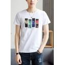Summer New Fashion Basic Short Sleeve Round Neck Graphic T-Shirt