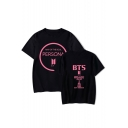 Popular Boy Band New Album PERSONA Letter Logo Print Short Sleeve Casual Tee