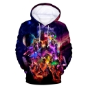 Popular 3D Film Figure Printed Sport Loose Fit Drawstring Hoodie