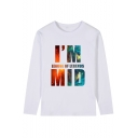 League of Legends Fashion Letter Printed Round Neck Long Sleeve Casual T-Shirt