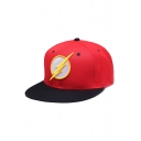 Flash Logo Printed Hip Hop Style Cool Red Baseball Cap