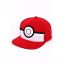 Pokemon Popular Comic Logo Print Summer Sport Red Cap