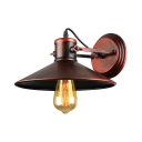 Vintage Mottled Copper 1 Light Small Indoor Barn LED Wall Sconce
