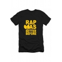 RAP WAS BETTER BEFORE Letter Printed Short Sleeve Men's Basic T-Shirt