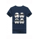 Star Wars Cool Robot Printed Short Sleeve Unisex Loose Relaxed T-Shirt