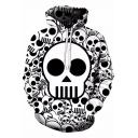 Trendy 3D Allover Skull Pattern Men's Long Sleeve Loose Casual White Hoodie
