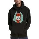 Hip Hop Style Figure Printed Men's Long Sleeve Regular Casual Hoodie