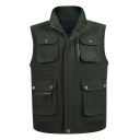 New Stylish Stand-Collar Multi Pocket Outdoor Fishing Vest Traveling Vest for Men