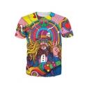 New Fashion Womens Mens Hippie Musician Funny 3D Print Casual T-Shirt