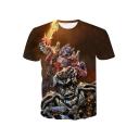 Cool 3D Printed Regular Fit Short Sleeve T-Shirt