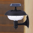 Wireless Dome Solar Light Outdoor 20 LED Remote Control Step Light in Warm/White