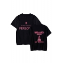 Boy Band New Album PERSONA Letter Logo Print Basic Short Sleeve T-Shirt