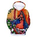 Our Lady of Guadalupe 3D Character Printed Long Sleeve Casual Unisex Hoodie