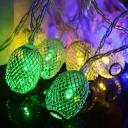 2-Pack 30 Lights String Lamp Garden Yard Decorative 33ft Oval Waterproof LED Twinkle Lights