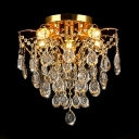 Crystal Chandelier Lighting Living Room 5/6/8 Lights Modern Style Pendant Light in Gold