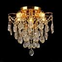 Crystal Chandelier Lighting Living Room 5/6/8 Lights Modern Style Pendant Light in Gold