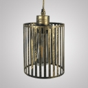 Antique Cylinder/Square Hanging Light 1 Light Metal LED Hanging Light Fixture with 39