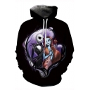 Jack Skellington Cool 3D Comic Figure Printed Black Pullover Hoodie