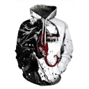Popular 3D Pattern Loose Relaxed Fit Unisex White Hoodie