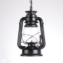 Metal Kerosene Pendant Lamp Single Light Industrial Pendant Lamp in Black/Copper/Bronze
