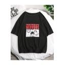 Letter PHOTOGRAPH NERVOUS Summer Cotton Loose Graphic T-Shirt