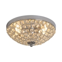 Clear Crystal Domed Ceiling Light Fixture 2 Lights Contemporary Flush Mount for Bedroom, 5