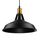 Industrial Retro Barn Single Pendant Light in Textured Black for Farmhouse Kitchen Island Restaurant