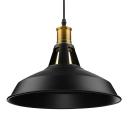 Industrial Retro Barn Single Pendant Light in Textured Black for Farmhouse Kitchen Island Restaurant