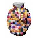 New Stylish Funny Comic Character Jigsaw Puzzle Pullover Drawstring Hoodie