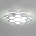 Living Room LED Flush Light Fixture Acrylic Modern Flush Ceiling Light in Warm/White