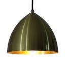 Domed Hanging Light Fixture 1 Light Metallic Modern Pendant Light for Dining Room