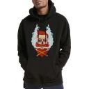 Funny Cartoon Character Printed Long Sleeve Casual Unisex Pullover Hoodie