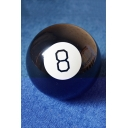 Funny Letter Number 8 Pattern Black Magic Ball Gift