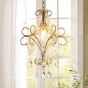 Chrome Hanging Chandelier with 19.5