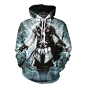 Assassin's Creed Game Figure 3D Pattern Long Sleeve Sport Loose Unisex Pullover Hoodie
