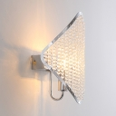 Contemporary Diamond Wall Light Clear Crystal 1/4 Lights Gold/Chrome Sconce for Bedroom