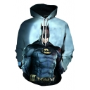 New Stylish Figure 3D Print Casual Relaxed Hoodie in Blue