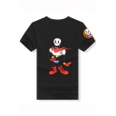 Summer Cool Funny Comic Character Skull Print Short Sleeve Relaxed T-Shirt