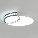 Round/Square/Rectangle Flush Mount Light Dining Room Contemporary LED Ceiling Light in White/Warm